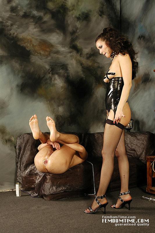 Spanking bare butt naked women
